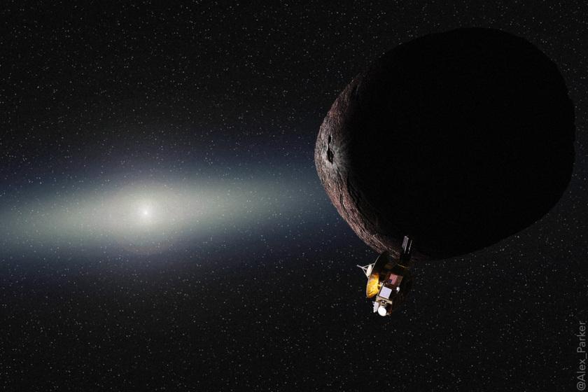 New Horizons at its Kuiper belt target