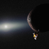 New Horizons at its Kuiper belt target