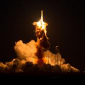 Antares initial explosion flash
