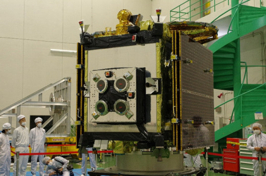 Side view of Hayabusa 2