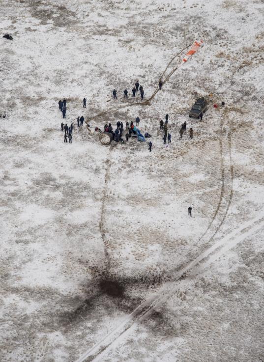 Soyuz on the steppe