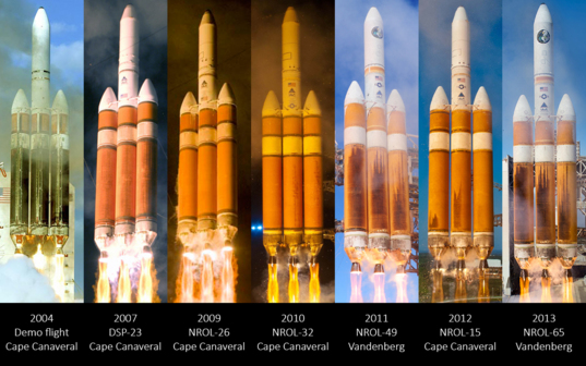 Delta IV Heavy launches