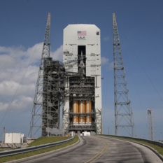 Orion at the pad