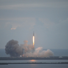 Orion lifts off