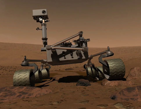 Artist's rendering of MSL