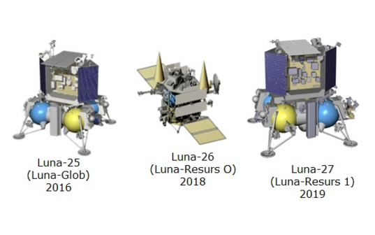 Upcoming Russian Lunar missions
