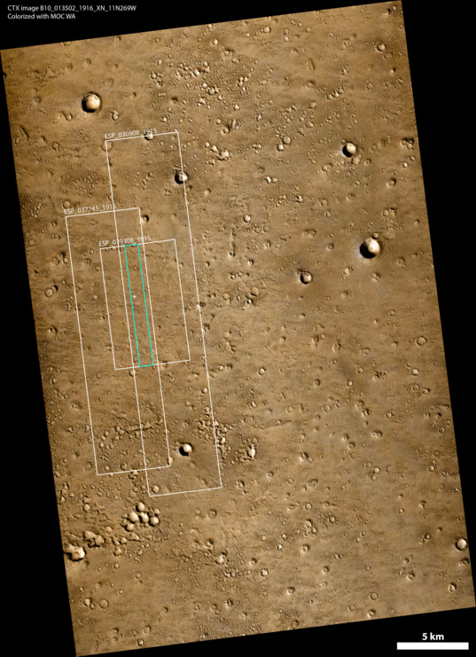 Map locating possible Beagle 2 landing site on Mars