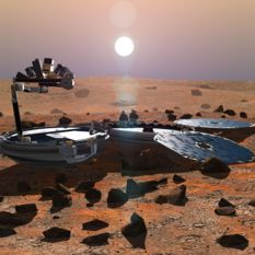 Artist's impression of Beagle 2 on Mars