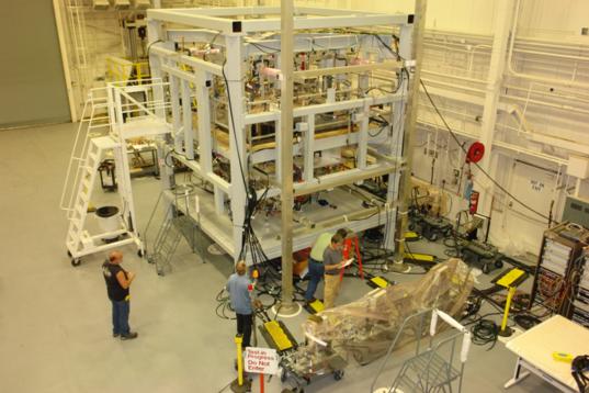 OSIRIS-REx spacecraft assembly