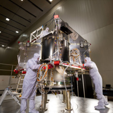 Assembling OSIRIS-Rex spacecraft