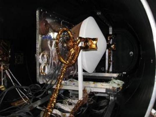 OSIRIS-REx SRC in TVAC chamber