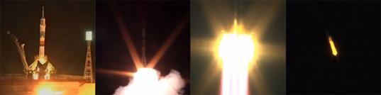 Soyuz TMA-17M launch shots