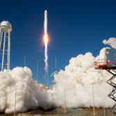 Antares rises from the pad
