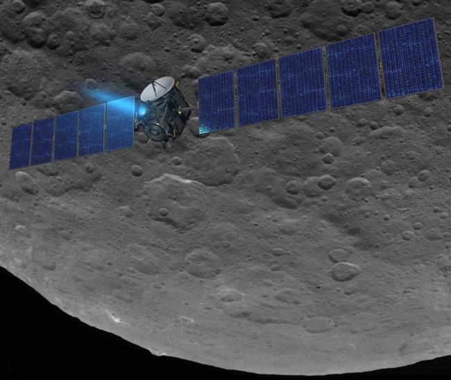 Dawn in survey orbit at Ceres