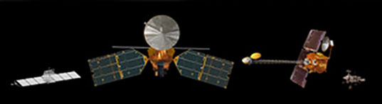 Mars spacecraft size comparison