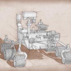 Mars 2020 rover concept sketch