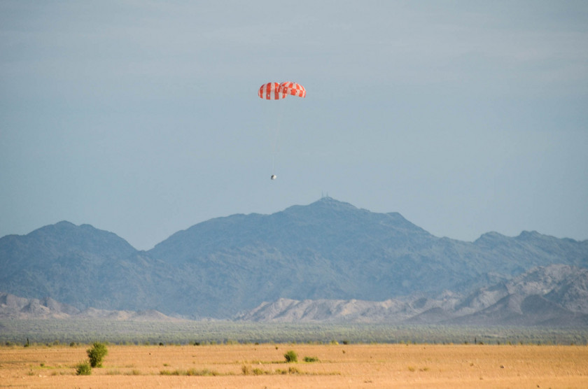 Orion parachute test, drop day