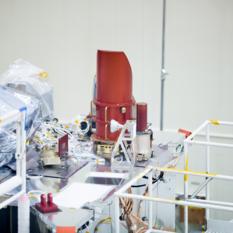 OCAMS on science deck of OSIRIS-REx