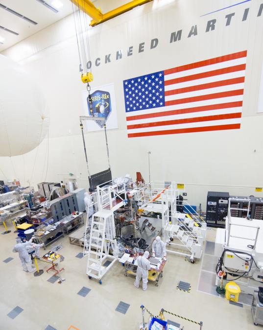 OSIRIS-REx solar array fit check