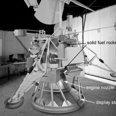 Surveyor spacecraft (with added labels to show the components)