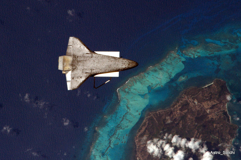 Discovery over the Caribbean