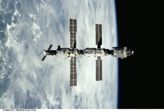 ISS configuration for Expedition 1, 2000
