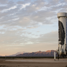 Blue Origin New Shepard after first landing