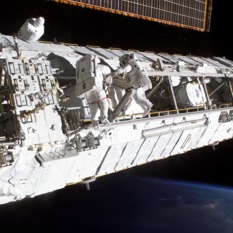 ISS truss with CETA cart