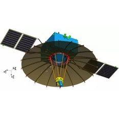 CAD drawing of the Chang'e 4 communications relay satellite