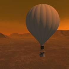 Artist's concept of a Titan balloon