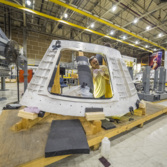 Orion EM-1 cone panel with hatch