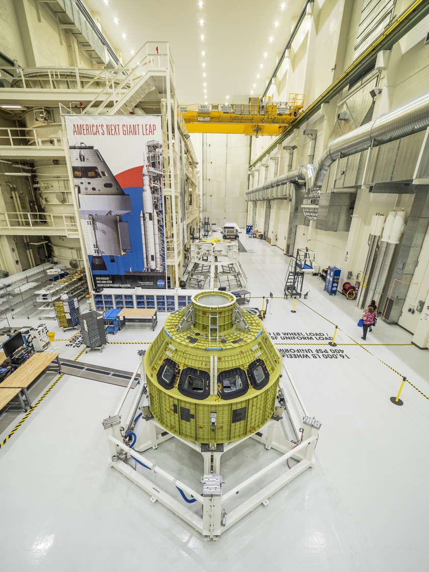 Orion EM-1 at Kennedy Space Center Operations and Checkout Facility