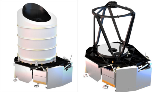 Drawings of the Euclid payload module