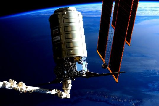Cygnus OA-4 moved into position for release