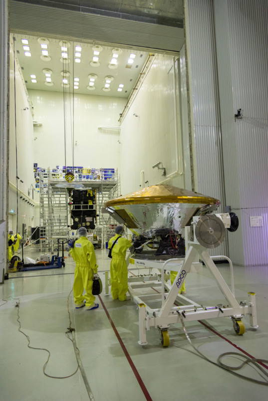 Schiaparelli meets ExoMars Trace Gas Orbiter