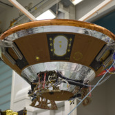 Schiaparelli being installed on ExoMars TGO