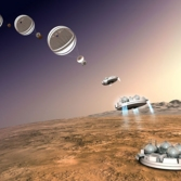 Schiaparelli landing on Mars