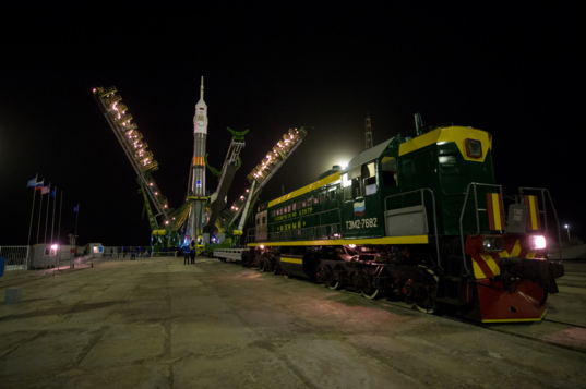 Soyuz TMA-20M on the pad