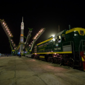 Soyuz TMA-20M on the pad
