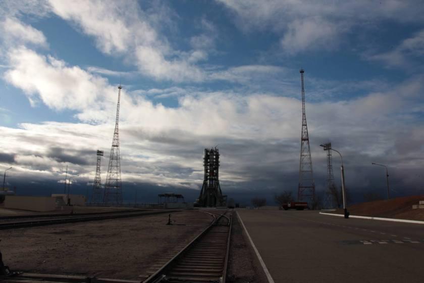 Progress MS-02 on the pad