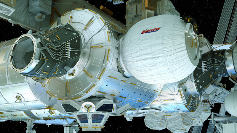 BEAM attached to ISS