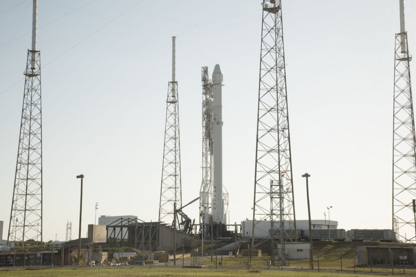SpaceX CRS-8 on the pad