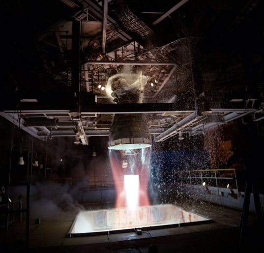 RS-25 testing at Marshall Space Flight Center