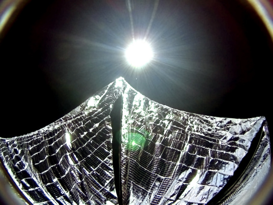 LightSail 1 updated solar sail selfie