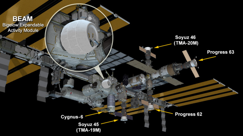 BEAM's location on the ISS