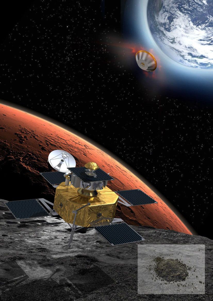 Phobos sample return mission