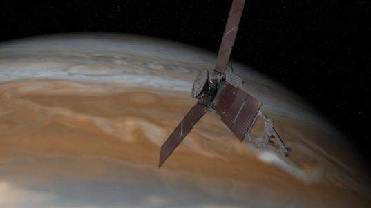 Juno close to Jupiter