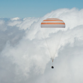 Soyuz TMA-19M capsule descends