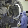 Inspecting the inside of the OSIRIS-REx sample return capsule