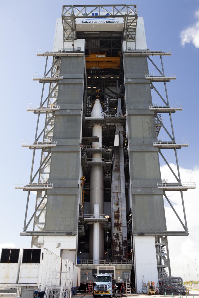 OSIRIS-REx atop its rocket